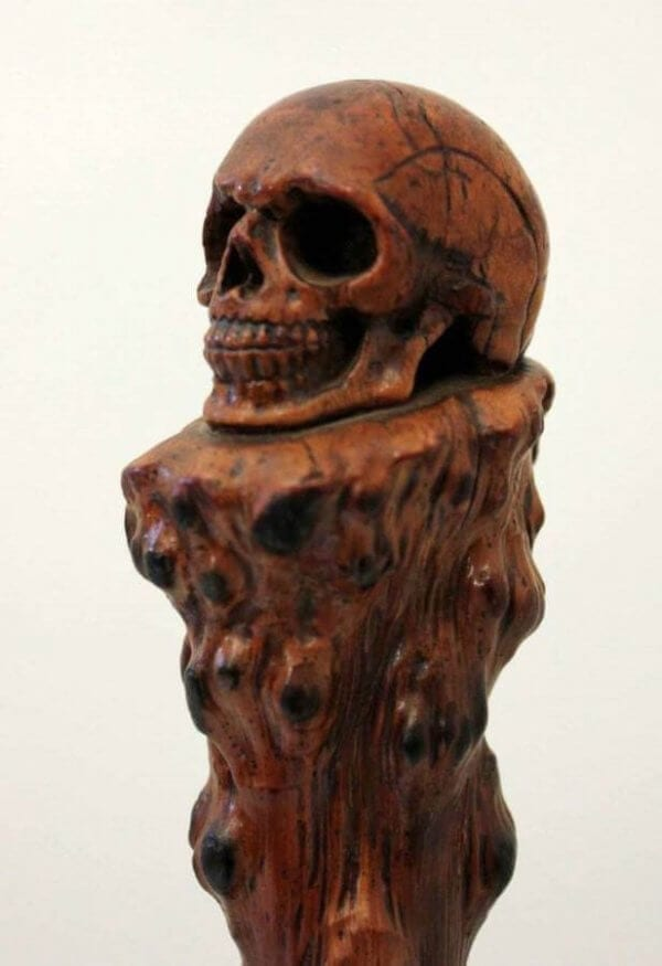 19Th Century Skull Walking Stick
