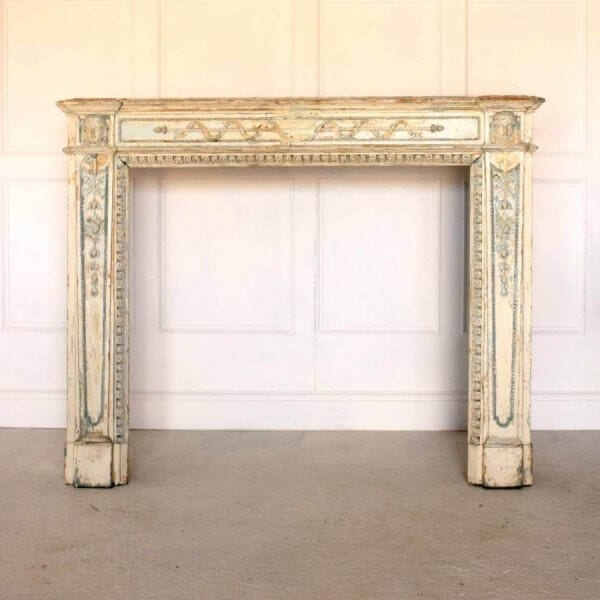 19Th Century Neo-Classical Fireplace