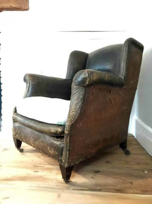 19Th Century Gentleman Leather Armchair