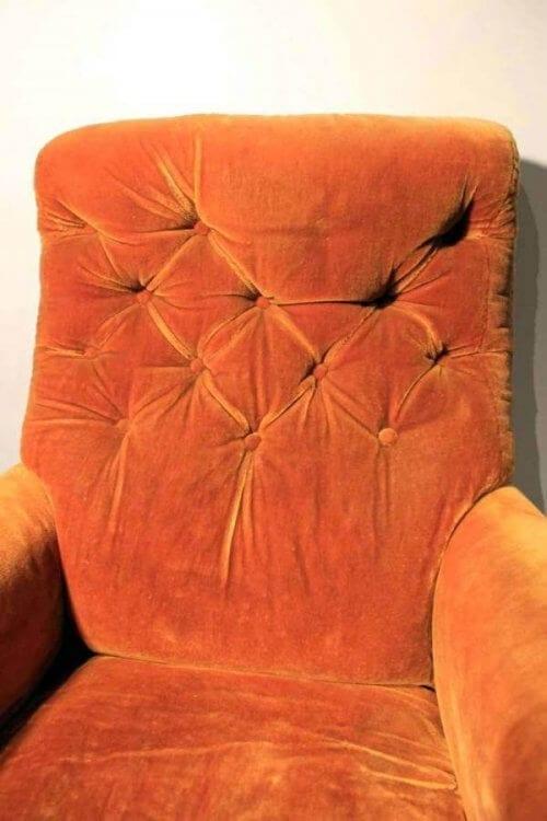 A Victorian Velvet Armchair