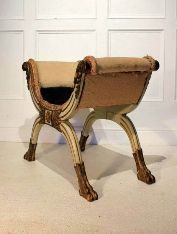 19Th Century Neo-Classical Stool