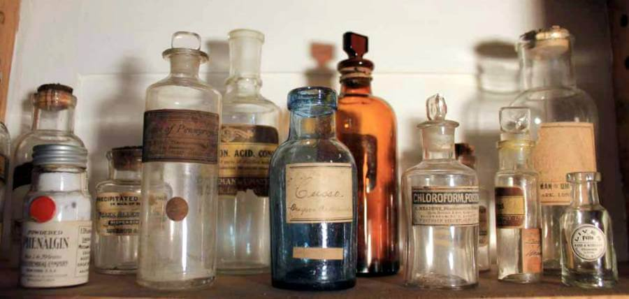 A large Collection Of Pharmacy Paraphernalia
