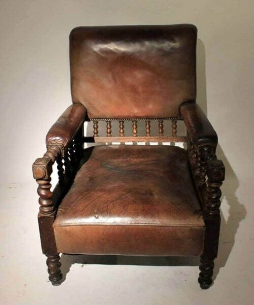 Early 20Th Century Leather Armchair