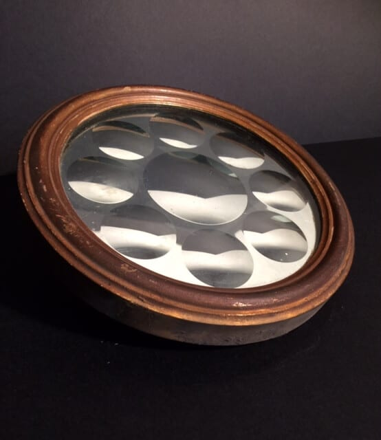 A Regency Bevelled Round Mirror