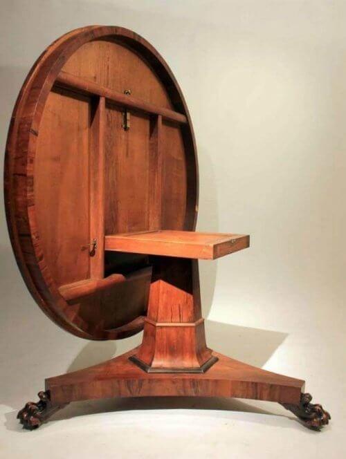 19th Century Yew Irish Centre Table