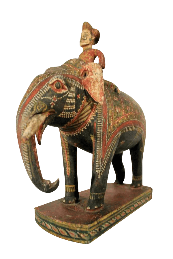 19Th Century Carved Indian Elephant