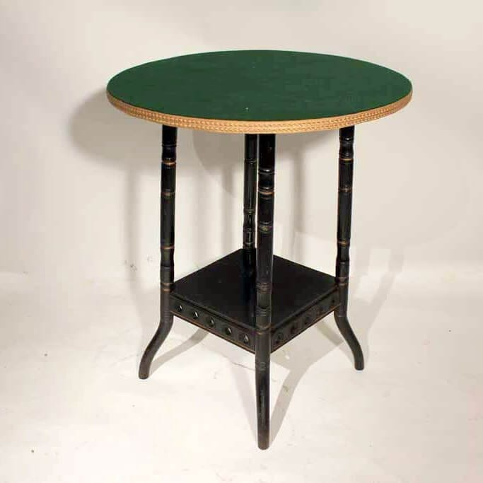 A 19Th Century Aesthetics Ebonised Table