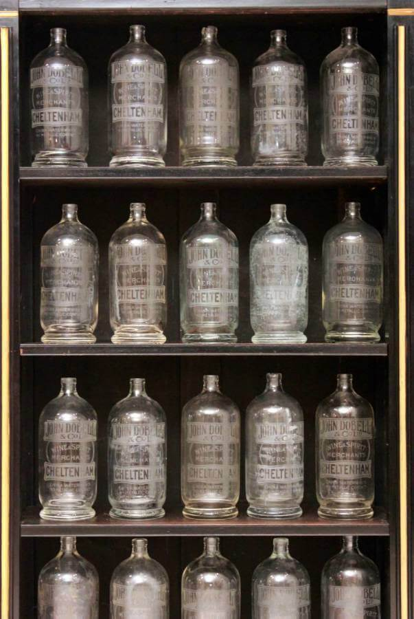A Large Collection Of Late 19Th Century Glass Soda Bottles