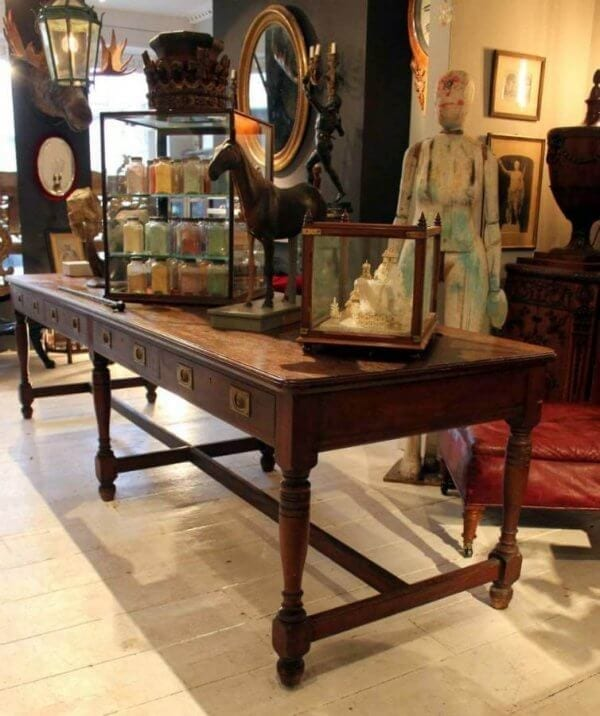 A Very Large 19Th Century Museum Library table