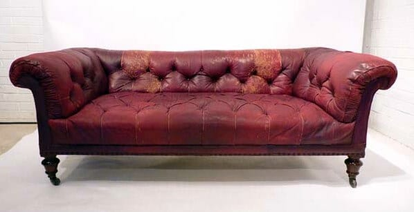 19Th Century Moroccan leather Chesterfield
