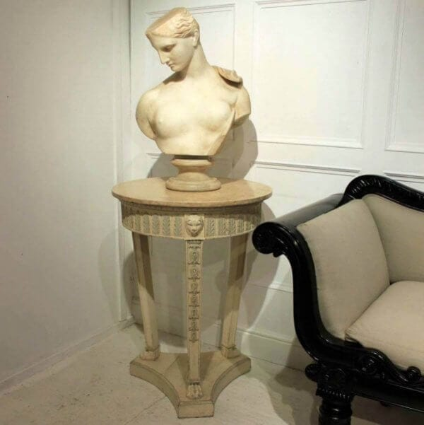 A Pair Of Marble top Torcheres