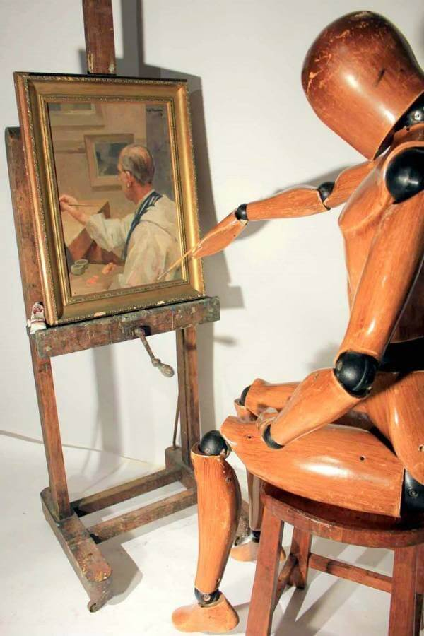 A Large Artist Easel