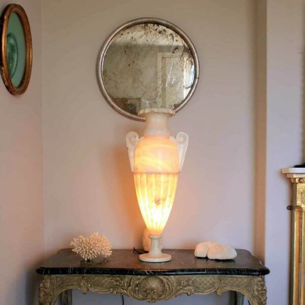 1920s Alabaster Urn Light