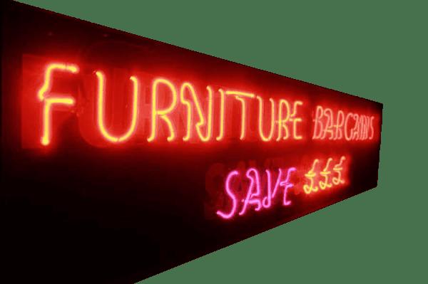 1950s Illuminated Neon Sign