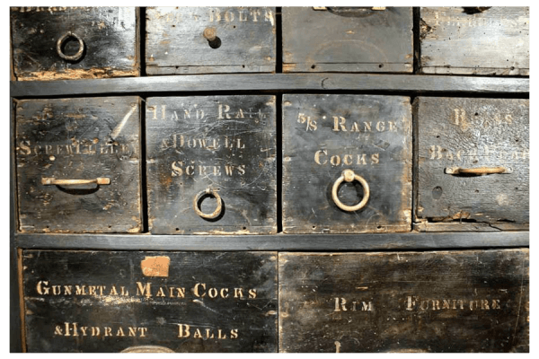A Victorian Workshop Bank Of Draws