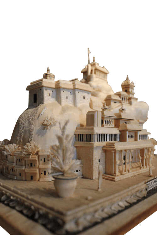 19Th Century Model Of A Indian Temple