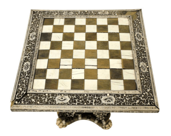19Th Century Vizagapatam Chess Table