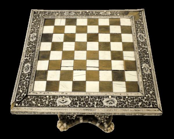 19Th Century Vizagapatam Chess Table